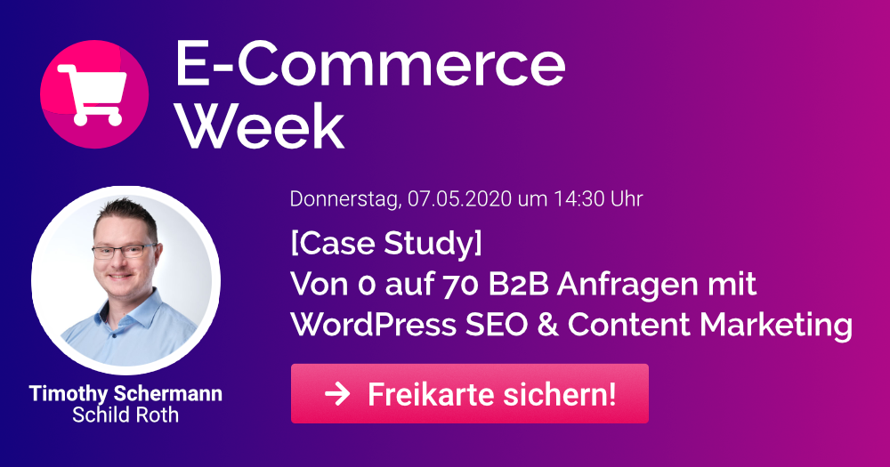 E-Commerce Week mit Timothy Scherman